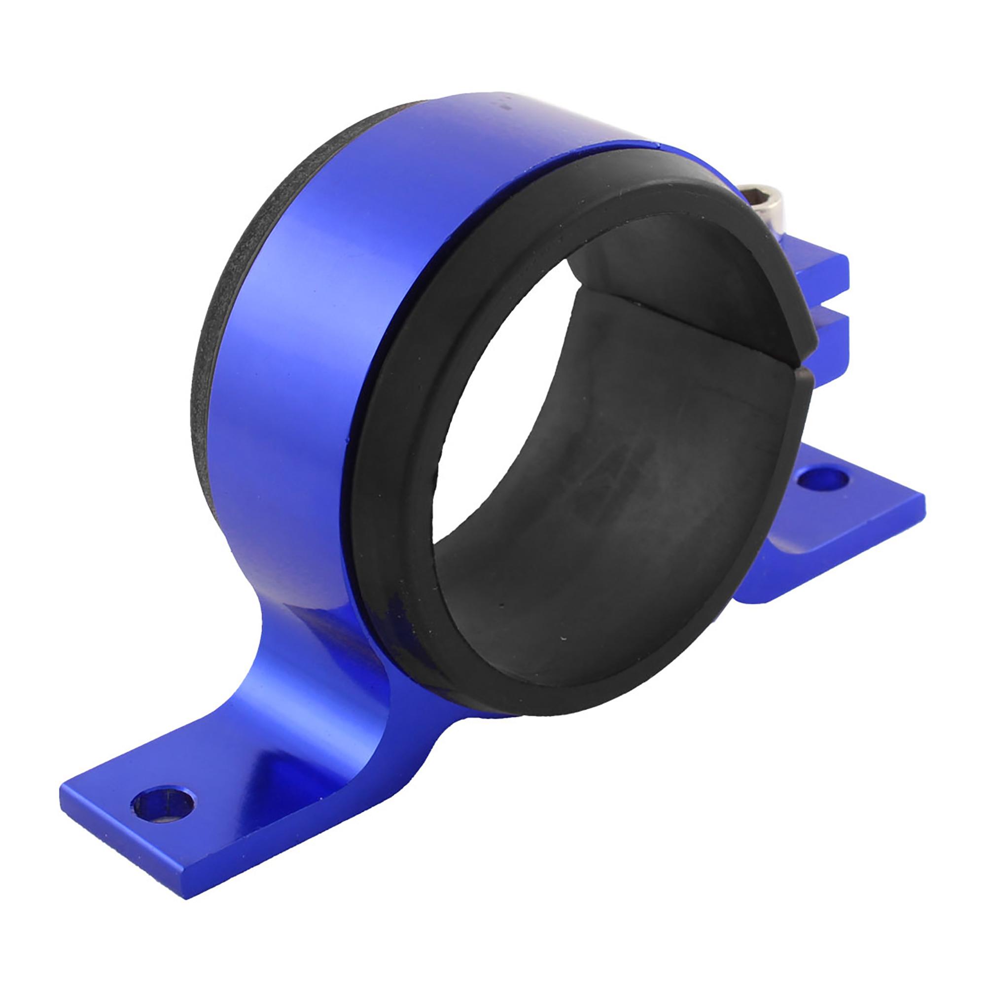 Aluminum 57mm Dia Fuel Pump Mounting Bracket Single Filter Clamp Cradle Blue