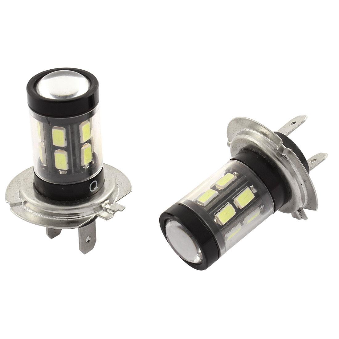 2 Pcs H7 White 15 SMD LED Error Free Fog Driving Headlamp Light Bulb 12V for Car