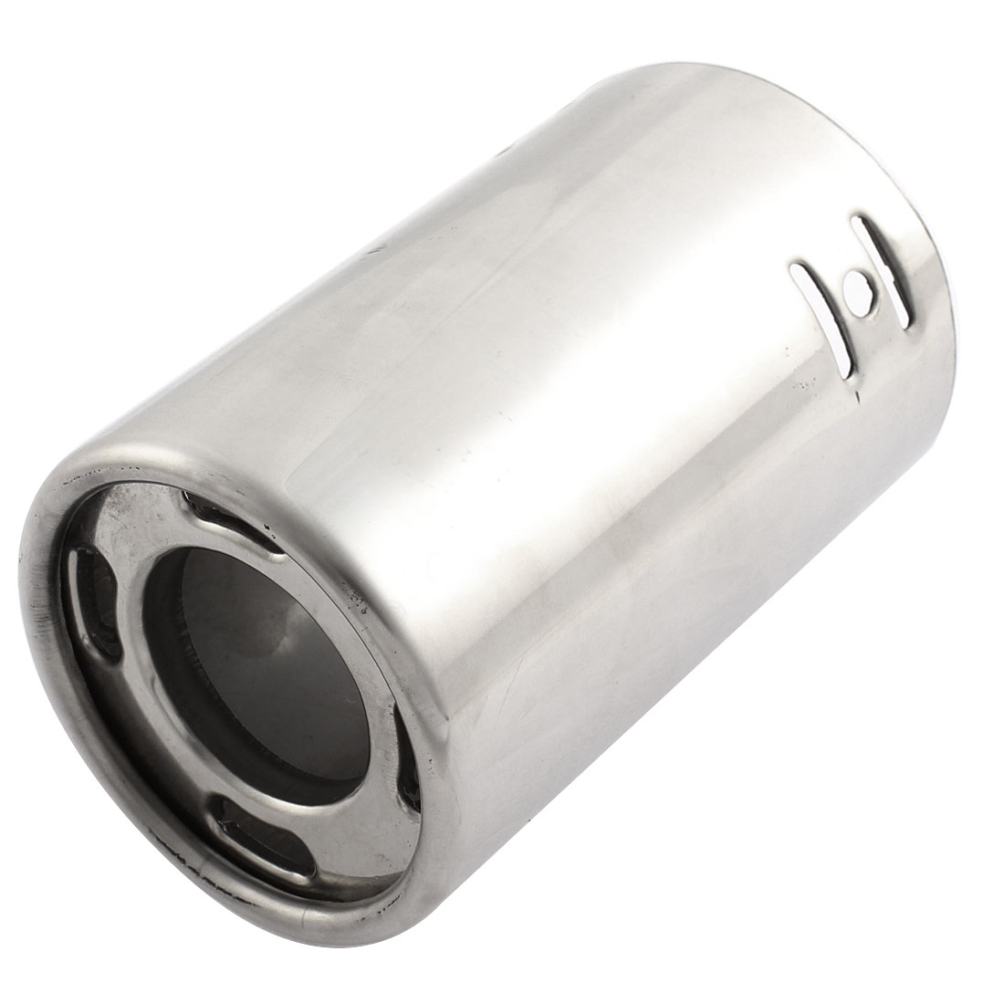 "Car Universal Sliver Tone Stainless Steel Exhaust Muffler Tip Pipe 3"" Inlet Dia"