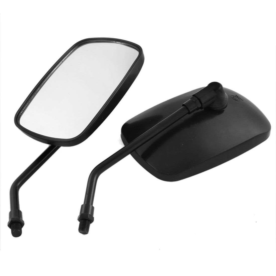 2 Pcs Adjustable Rectangle Rearview Blind Spot Mirrors Black for Motorcycle