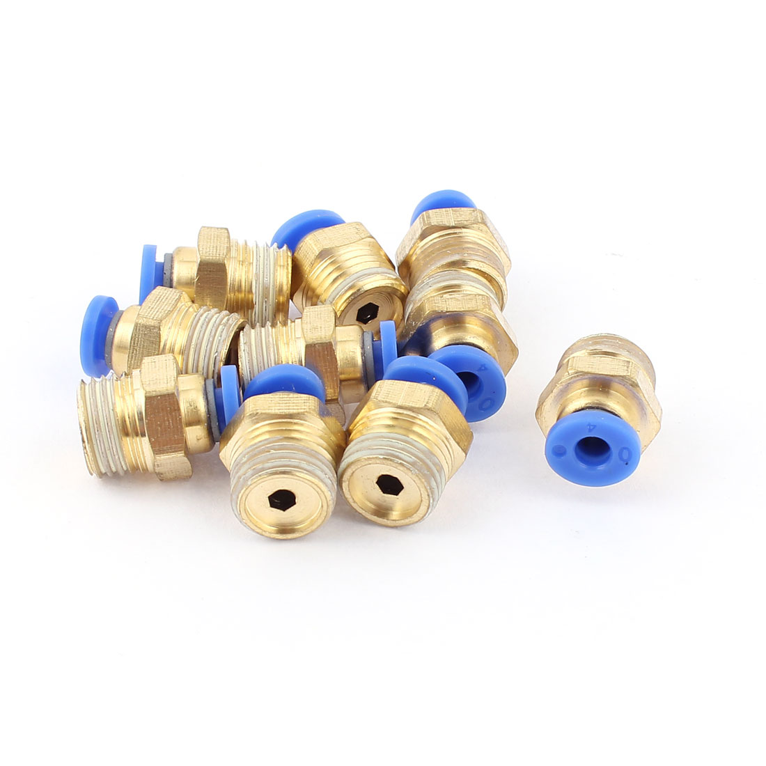 Air Line Hose 1/4BSP Male Thread 4mm Tube Quick Release Coupler Fittings 10pcs