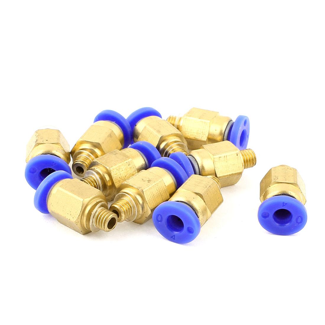 M5 5mm Thread 4mm Tube Dia Air Pneumatic Quick Fitting Coupler Connectors 10pcs