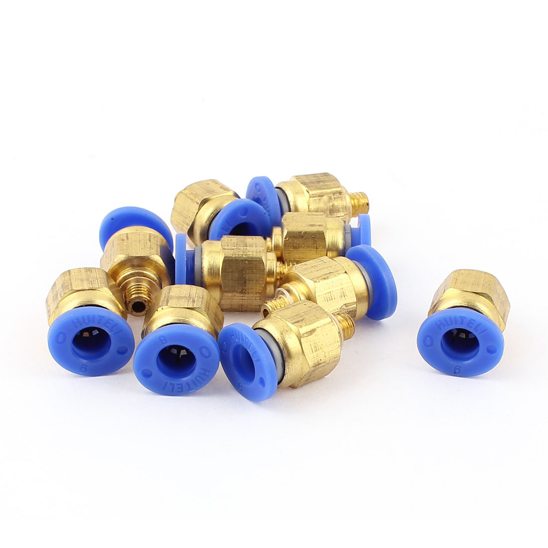M5 5mm Thread 6mm Tube Dia Air Pneumatic Quick Fitting Coupler Connectors 10pcs