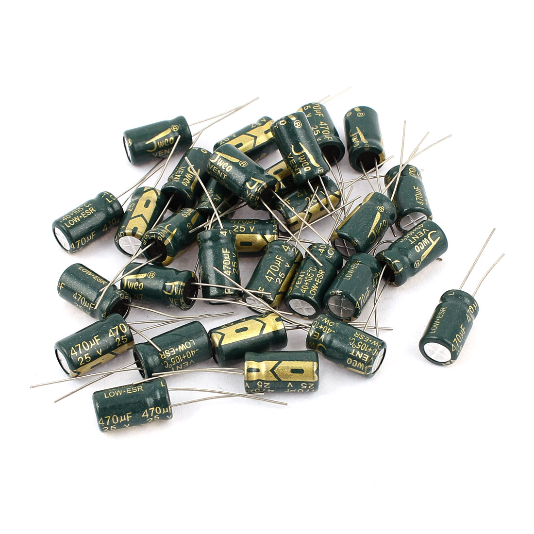 30pcs 8 x 14mm Motherboard Radial Lead Electrolytic Capacitor 105C 470uF 25V