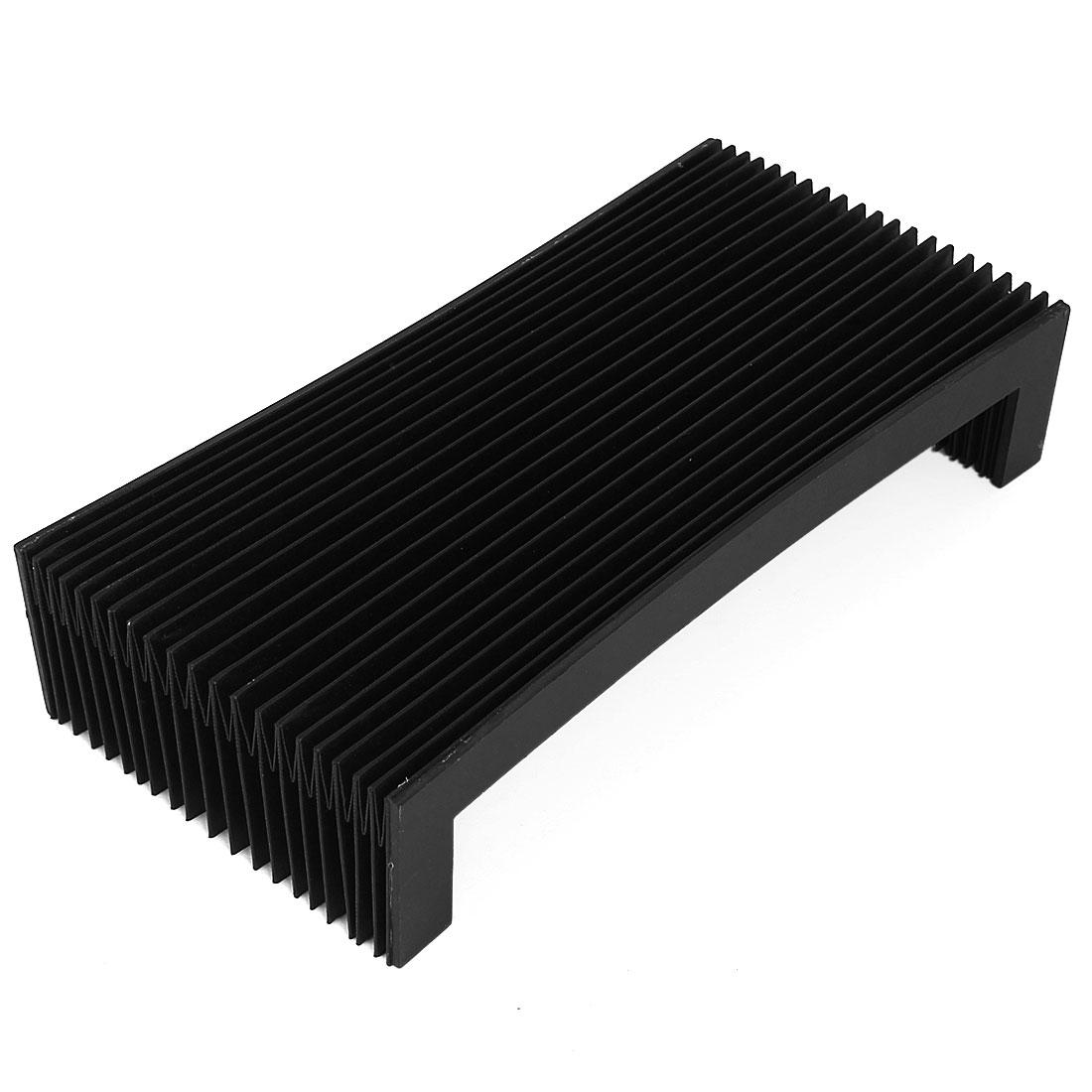 CNC Machine Fitting Foldable Dust Protective Cover Black 52cmx28cmx6cm