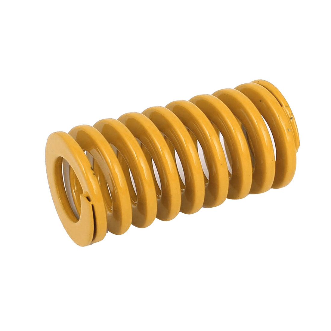 30mm OD 60mm Long Light Load Coil Stamping Compression Mold Die Spring Yellow