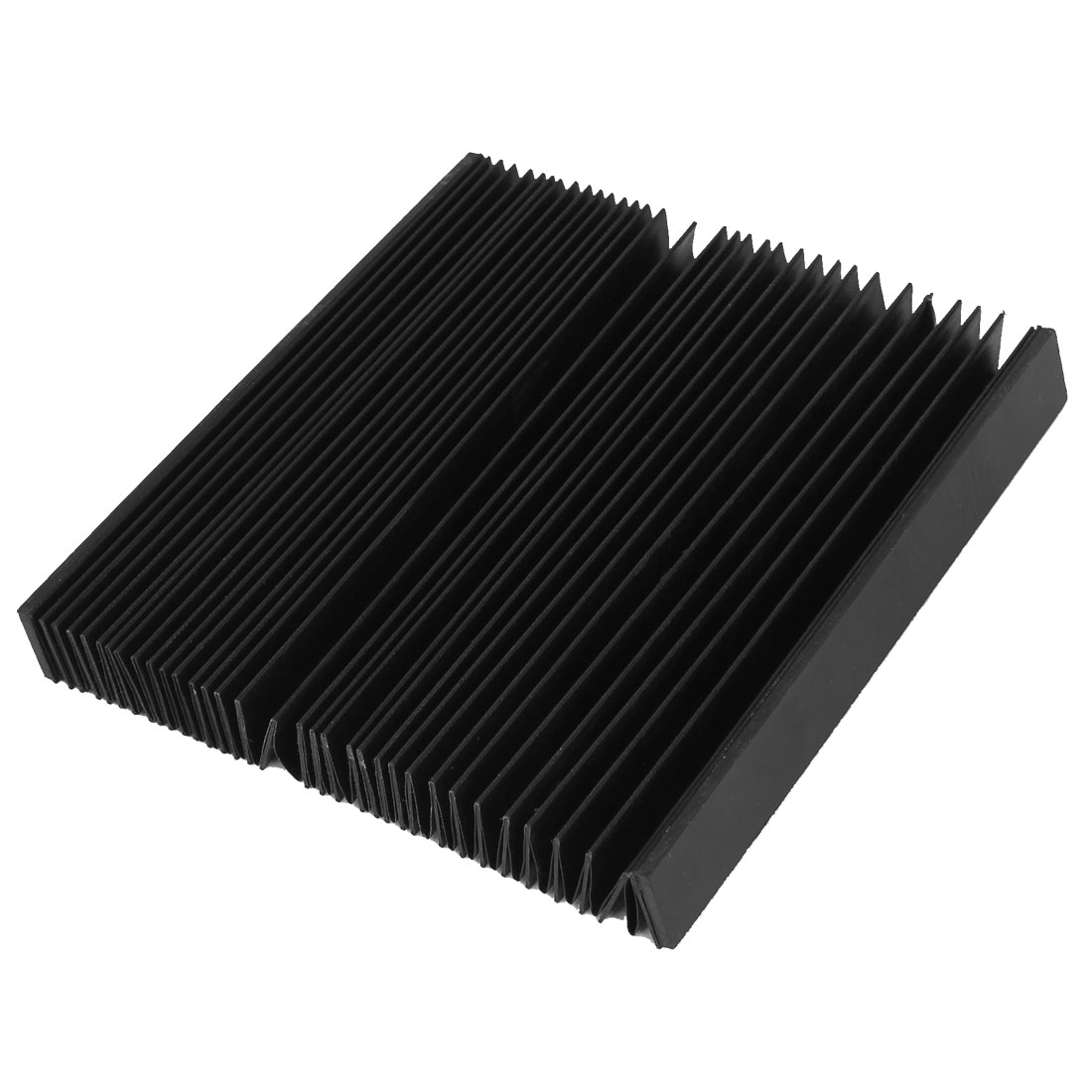 100cmx17cmx2cm Foldable CNC Machine Accordion Dust Cover Protector Black