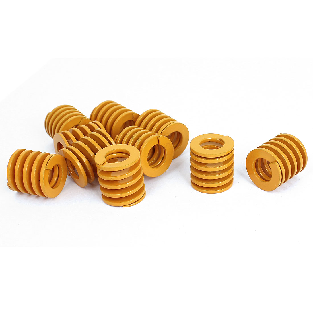 20mm OD 20mm Long Light Load Stamping Compression Mold Die Spring Yellow 10pcs