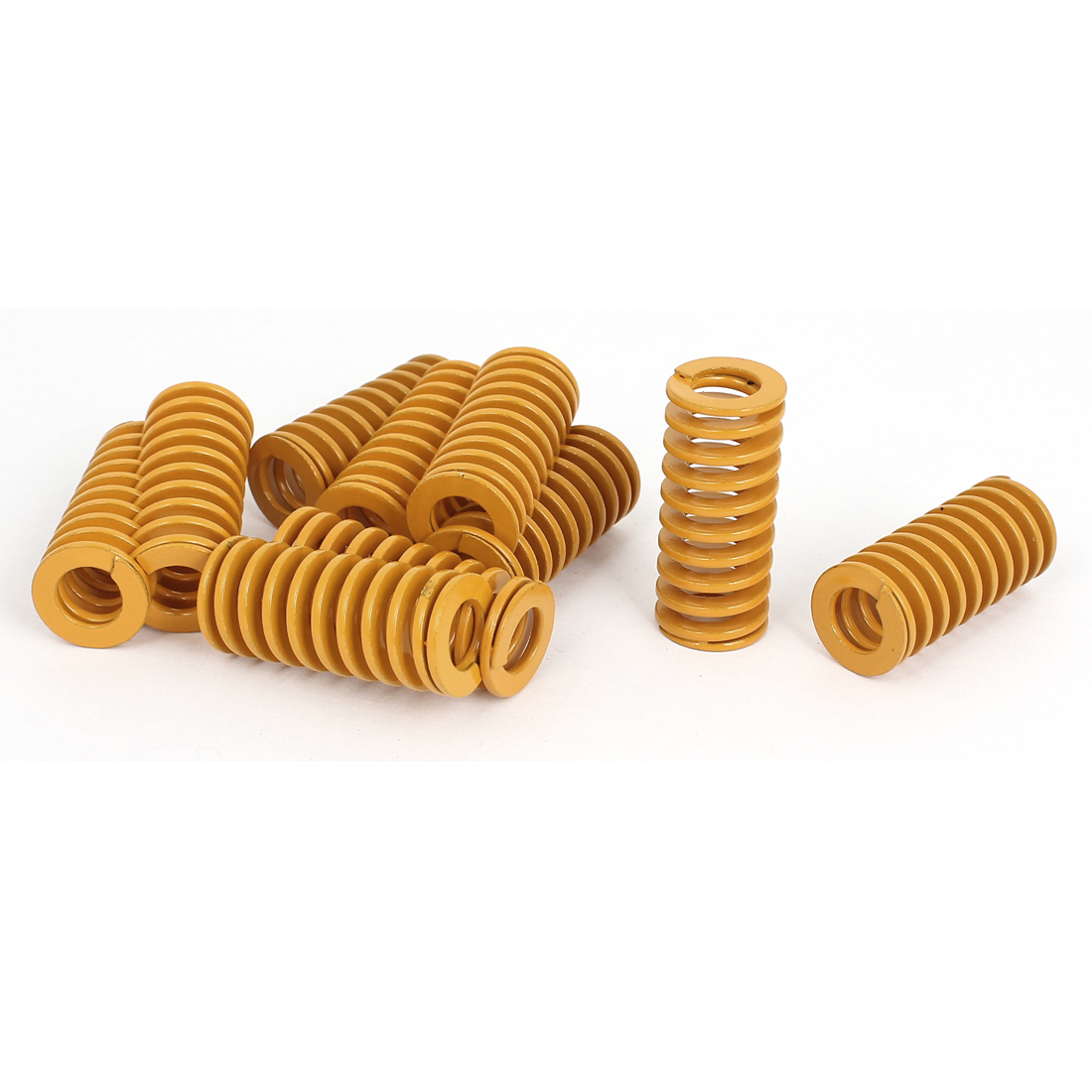 18mm OD 40mm Long Light Load Stamping Compression Mold Die Spring Yellow 10pcs