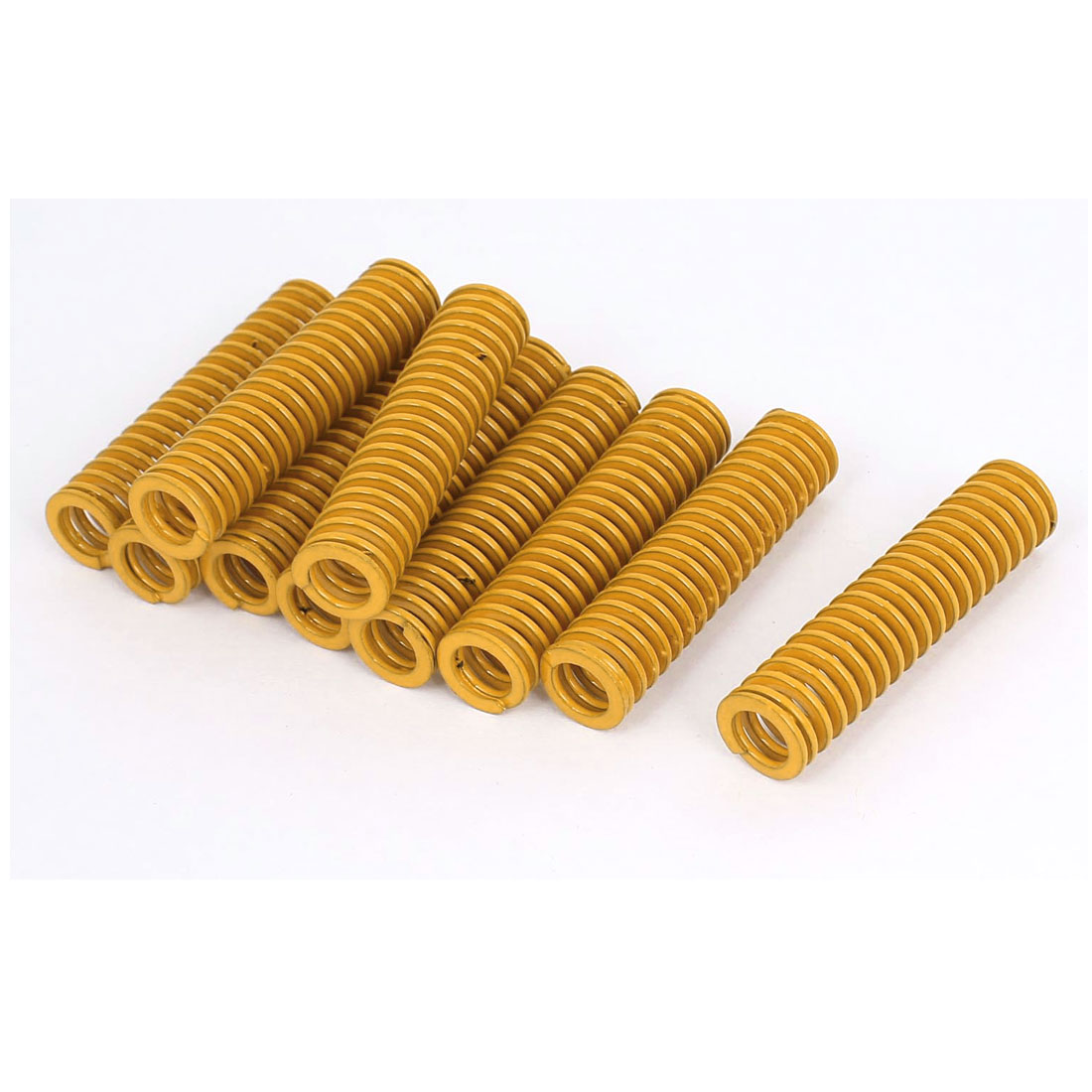14mm OD 60mm Long Light Load Stamping Compression Mold Die Spring Yellow 10pcs