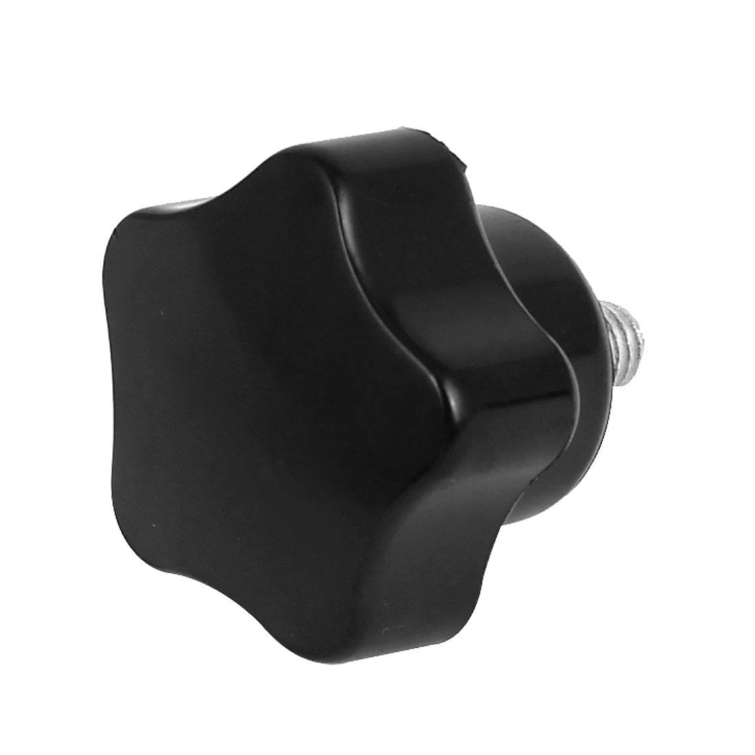 M6 x 10mm Plastic Star Head Screw On Type Clamping Knob Grip Black