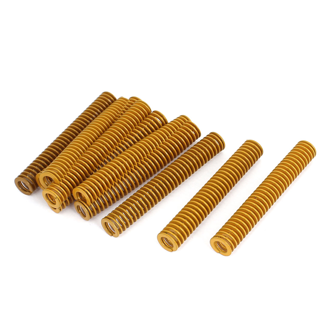 12mm OD 80mm Long Light Load Stamping Compression Mold Die Spring Yellow 10pcs