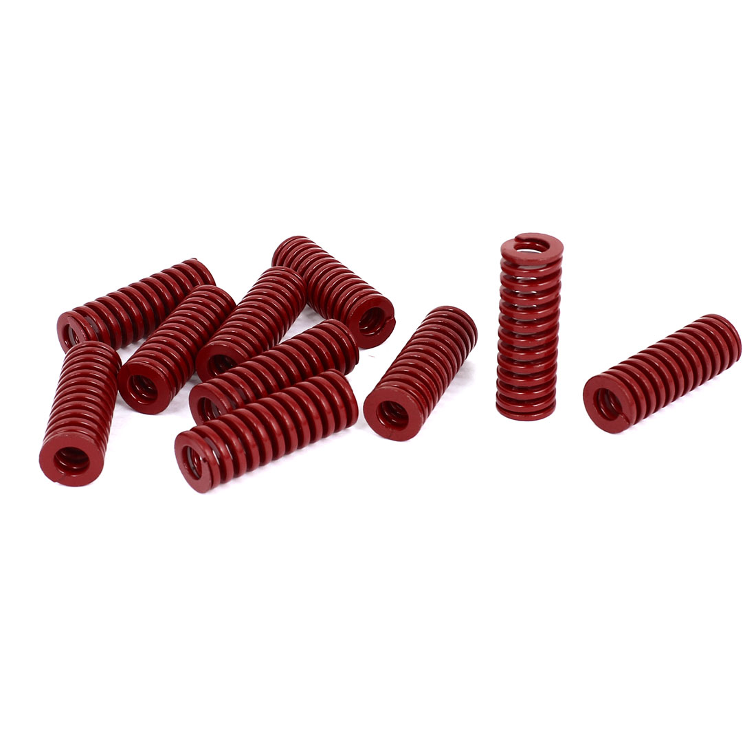 14mm OD 40mm Long Medium Load Stamping Compression Mold Die Spring Red 10pcs
