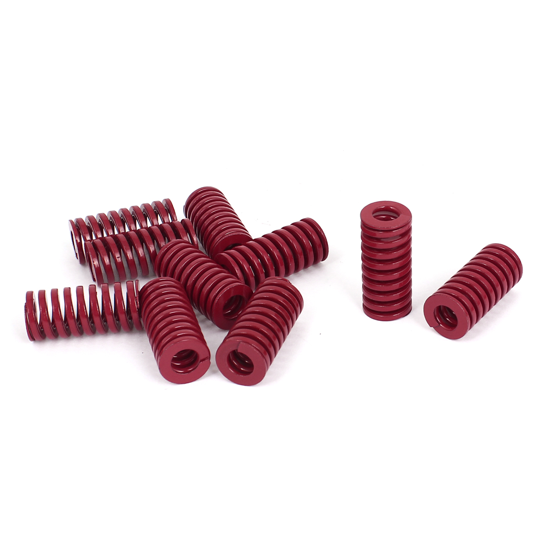 18mm OD 40mm Long Medium Load Stamping Compression Mold Die Spring Red 10pcs