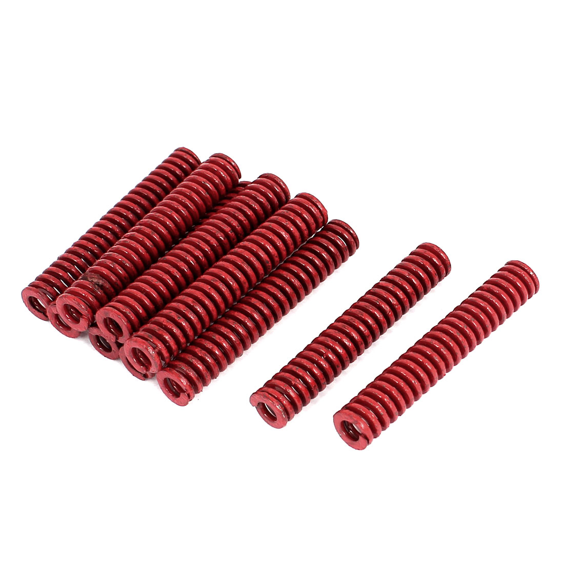 10mm OD 60mm Long Medium Load Stamping Compression Mold Die Spring Red 10pcs