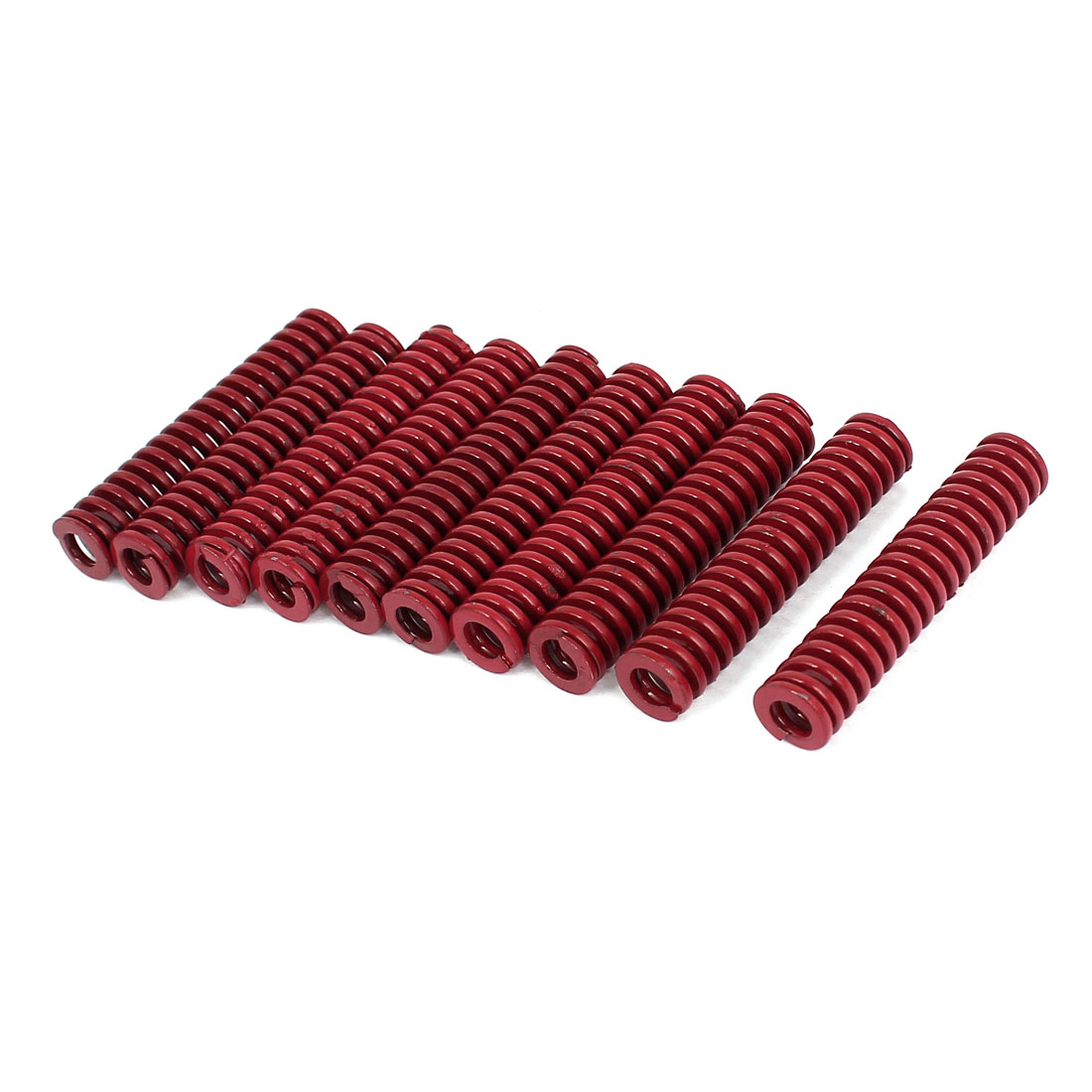 10mm OD 50mm Long Medium Load Stamping Compression Mold Die Spring Red 10pcs