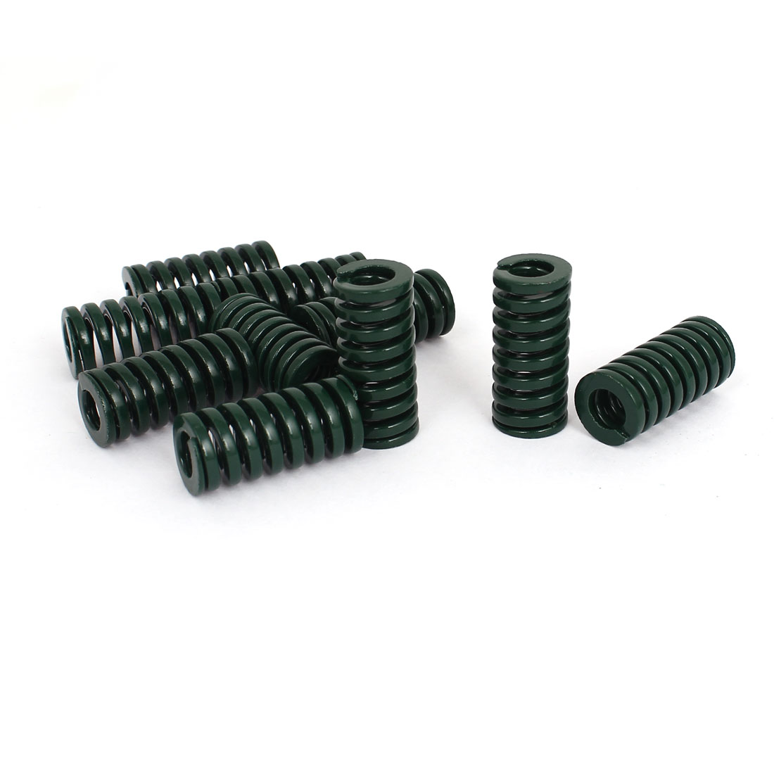 14mm OD 30mm Long Heavy Load Stamping Compression Mold Die Spring Green 10pcs