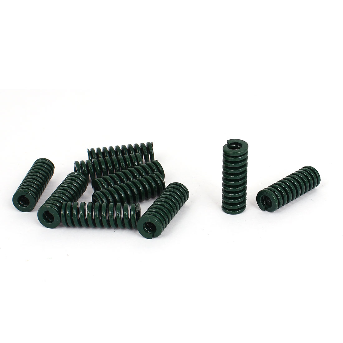 10mm OD 30mm Long Heavy Load Stamping Compression Mold Die Spring Green 10pcs