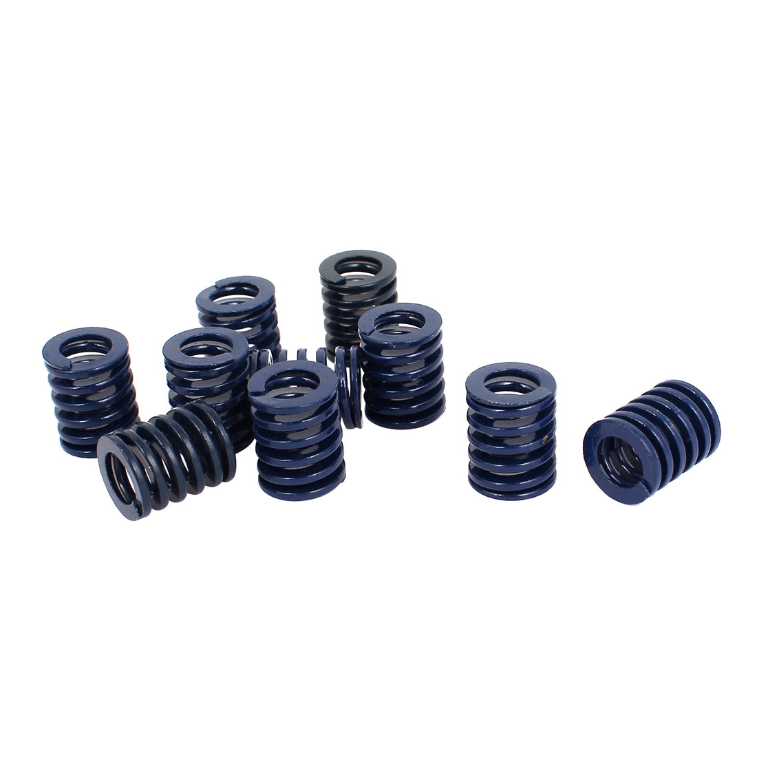 16mm OD 20mm Long Light Load Stamping Compression Mold Die Spring Blue 10pcs