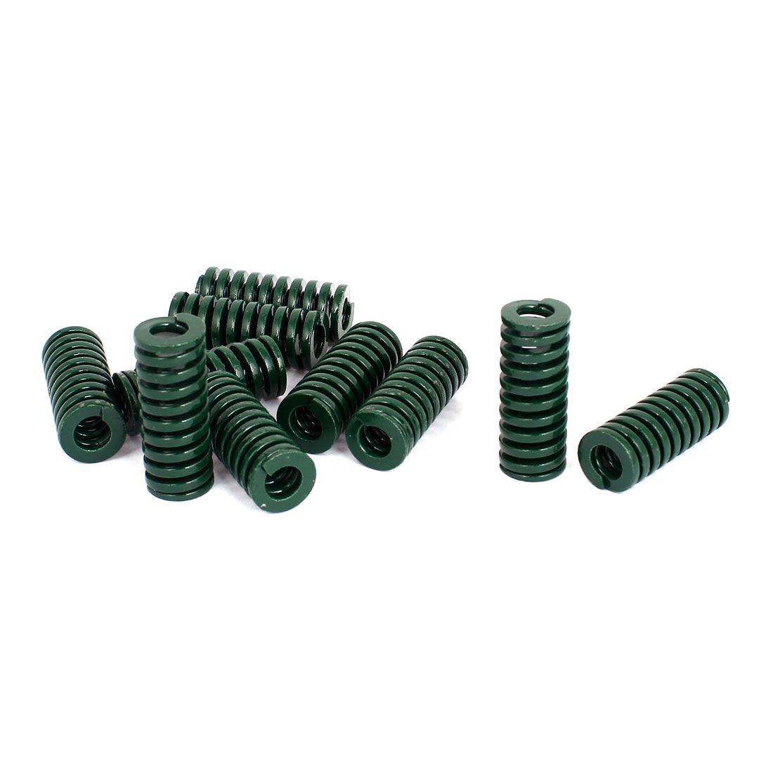 16mm OD 40mm Long Heavy Load Stamping Compression Mold Die Spring Green 10pcs