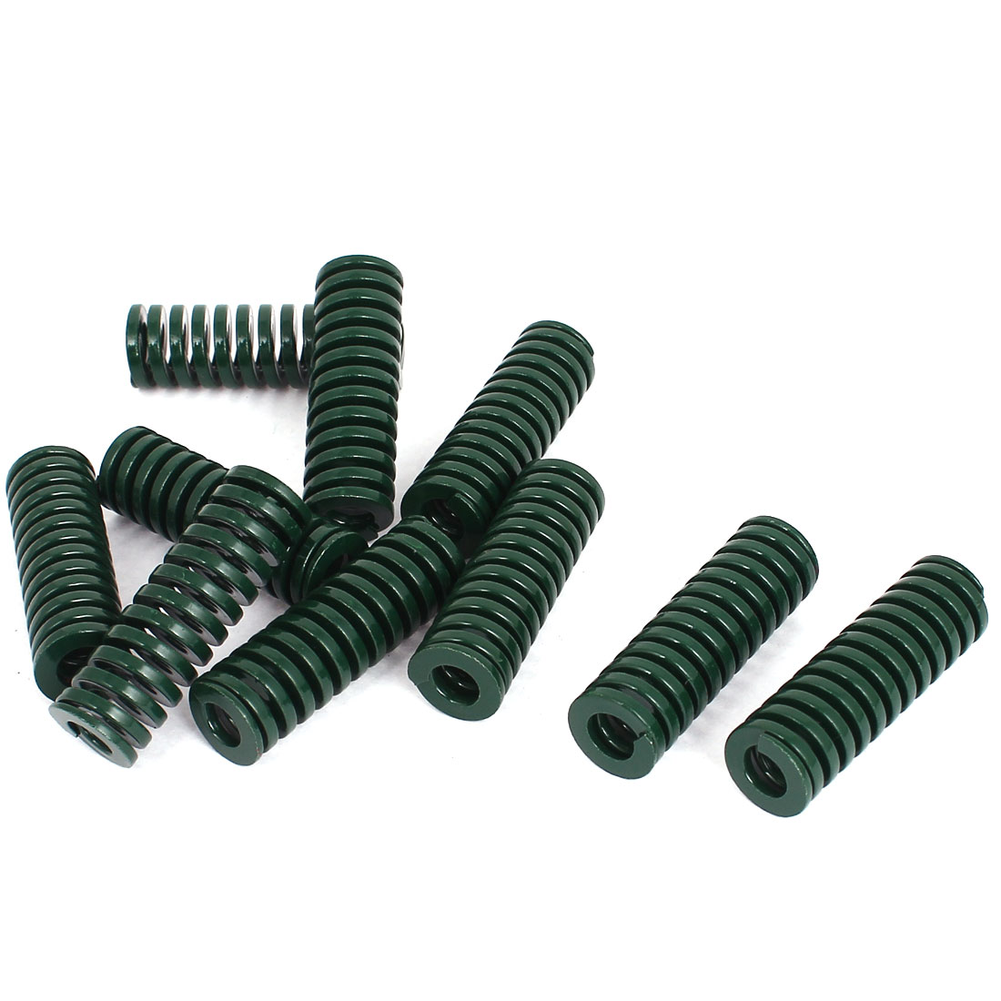 16mm OD 50mm Long Heavy Load Stamping Compression Mold Die Spring Green 10pcs