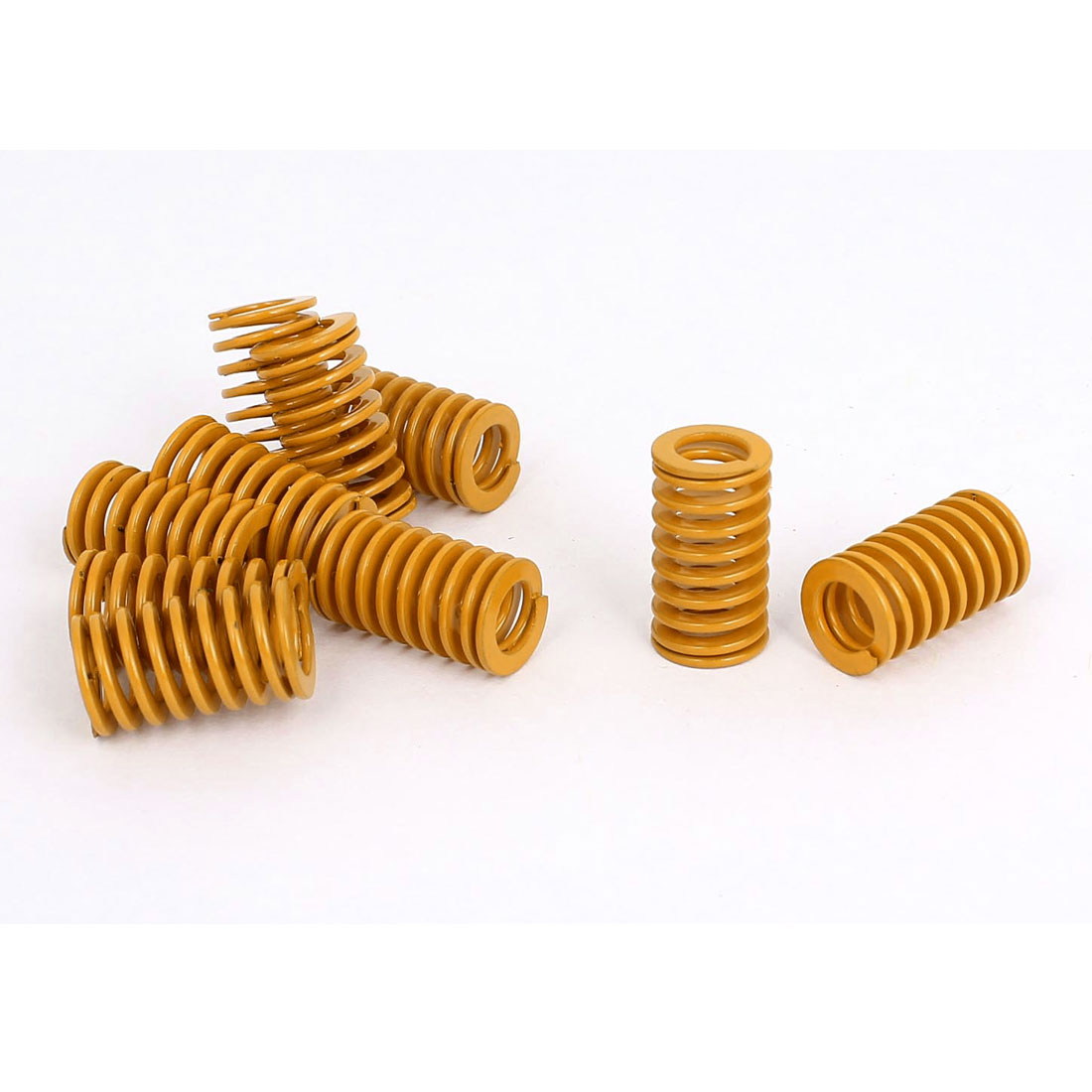 12mm OD 20mm Long Light Load Stamping Compression Mold Die Spring Yellow 10pcs