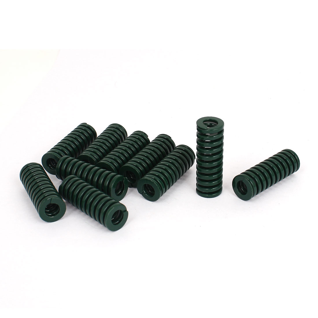 14mm OD 40mm Long Heavy Load Stamping Compression Mold Die Spring Green 10pcs
