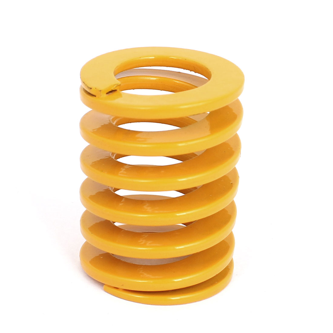 40mm OD 50mm Long Light Load Coil Stamping Compression Mold Die Spring Yellow