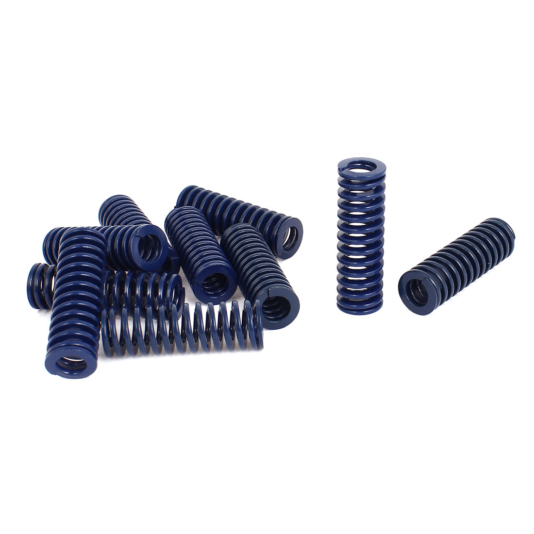 16mm OD 50mm Long Light Load Stamping Compression Mold Die Spring Blue 10pcs