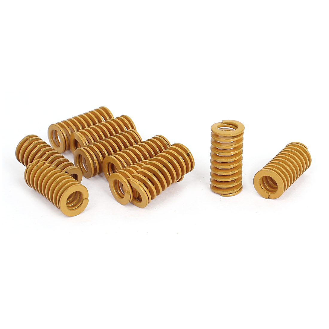 10mm OD 20mm Long Light Load Stamping Compression Mold Die Spring Yellow 10pcs