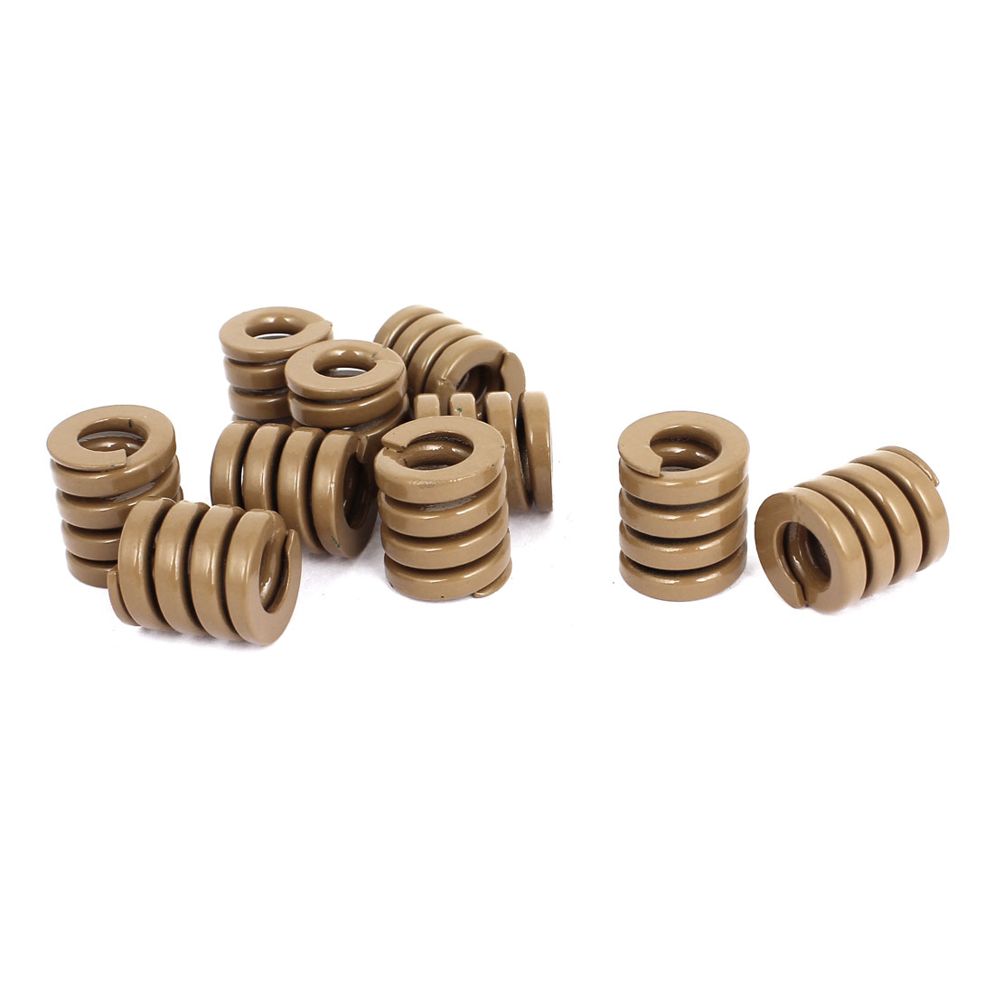 18mm OD 20mm Long Heavy Load Stamping Compression Mold Die Spring Brown 10pcs