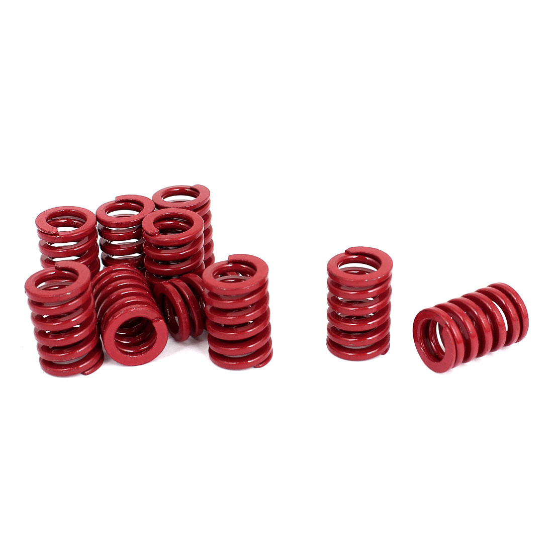 14mm OD 20mm Long Medium Load Stamping Compression Mold Die Spring Red 10pcs