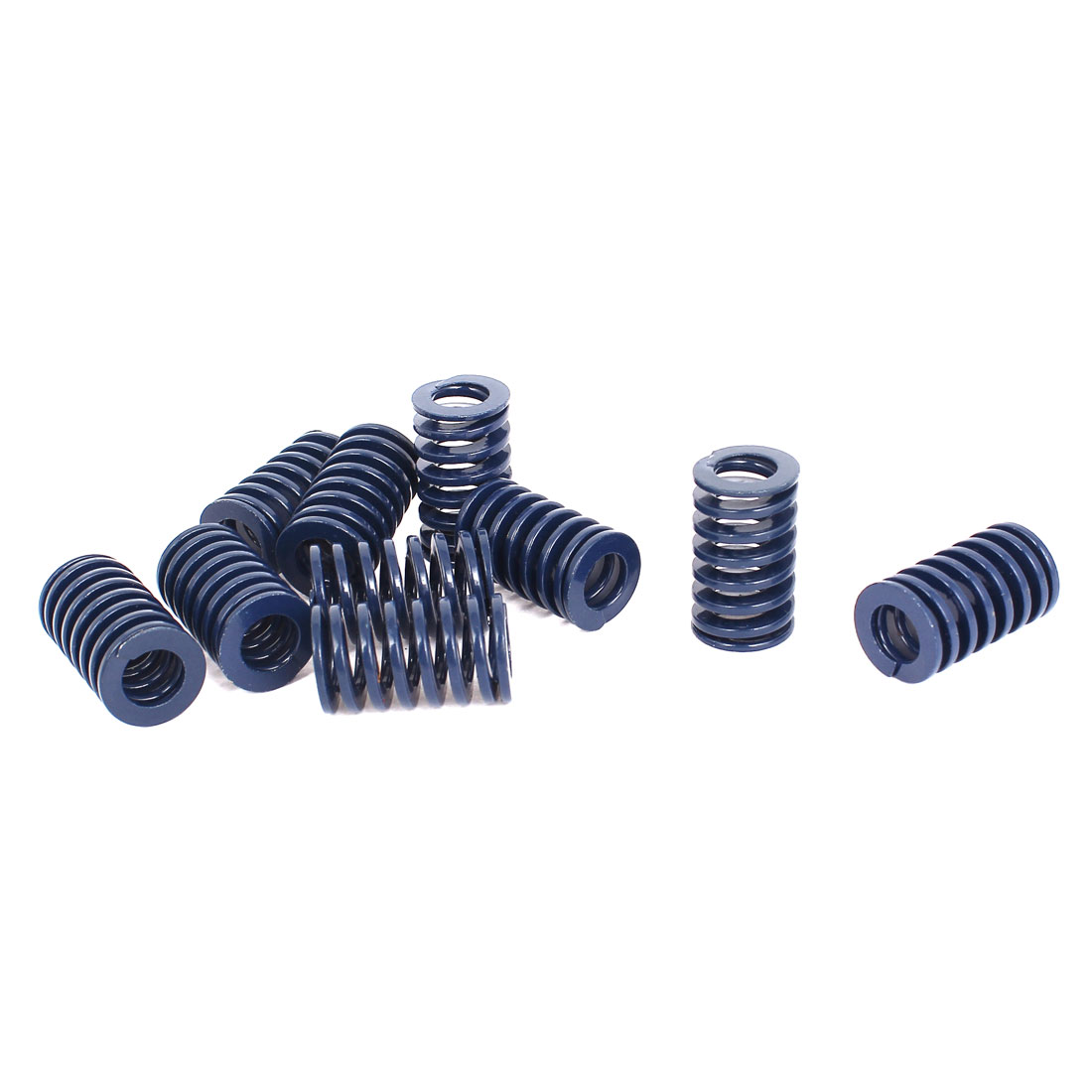 18mm OD 30mm Long Light Load Stamping Compression Mold Die Spring Blue 10pcs