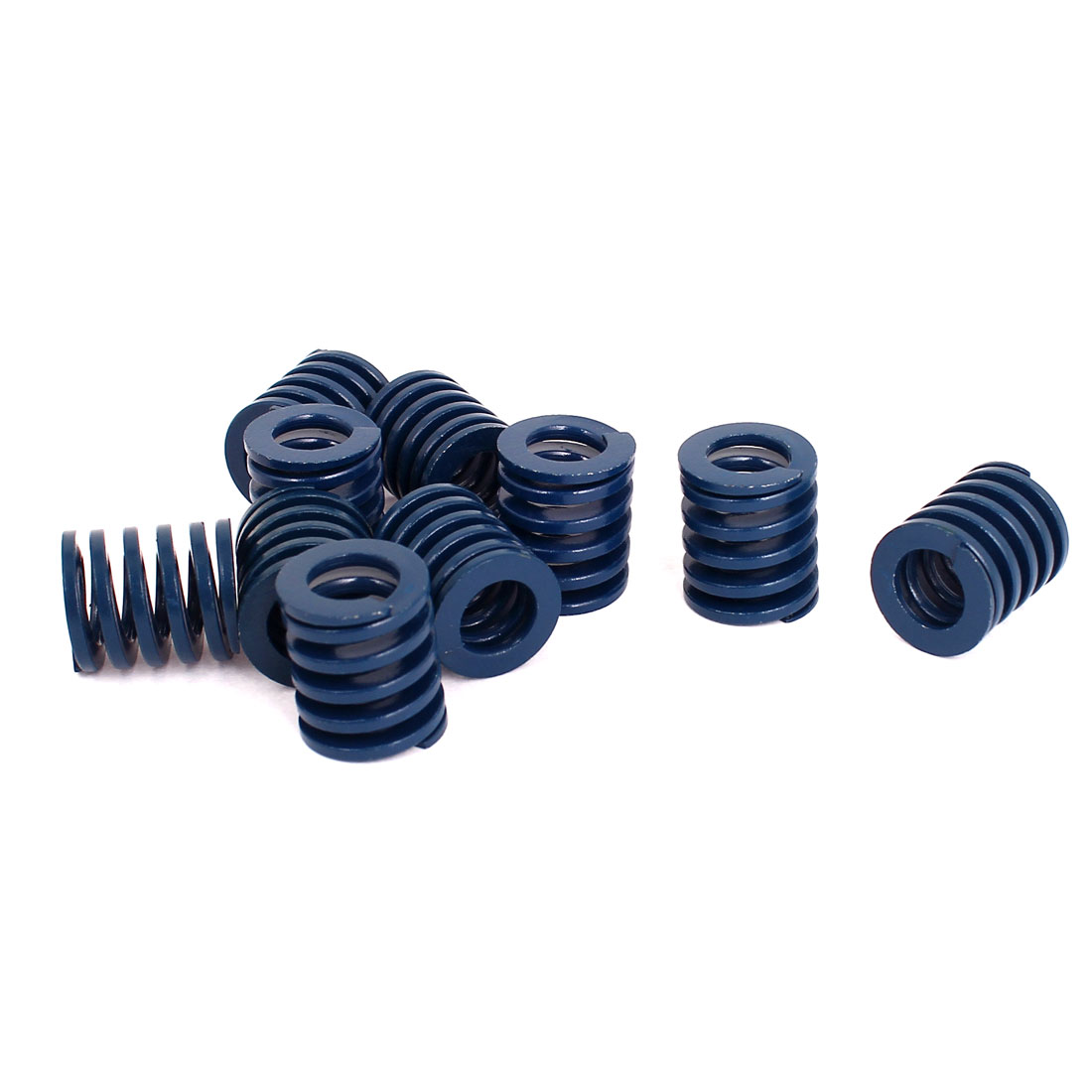 18mm OD 20mm Long Light Load Stamping Compression Mold Die Spring Blue 10pcs