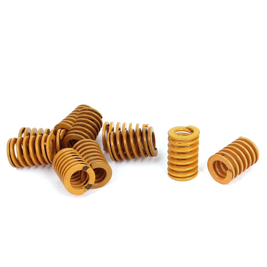 14mm OD 20mm Long Light Load Stamping Compression Mold Die Spring Yellow 10pcs
