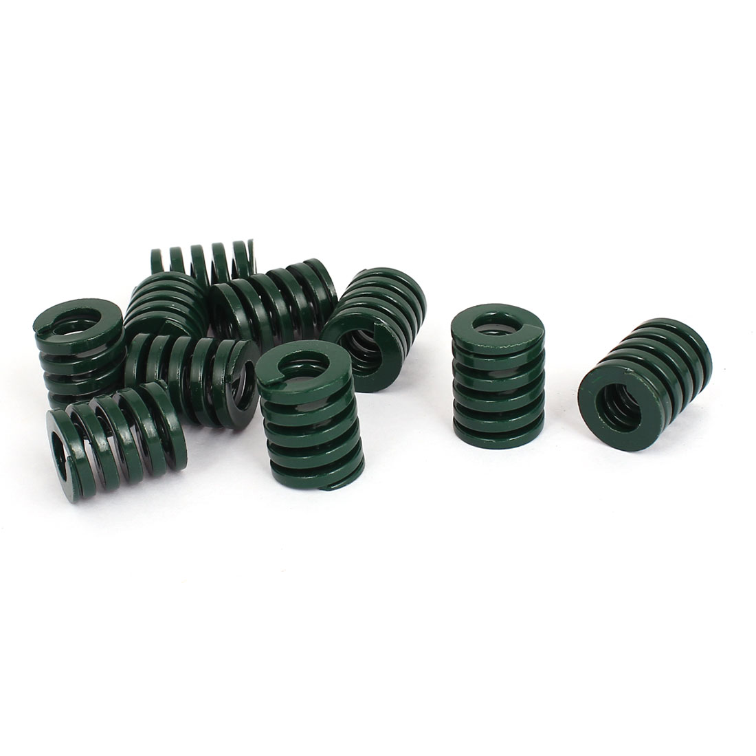16mm OD 20mm Long Heavy Load Stamping Compression Mold Die Spring Green 10pcs