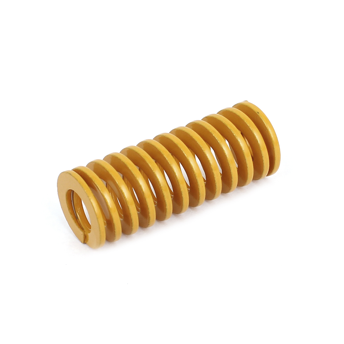 20mm OD 50mm Long Light Load Coil Stamping Compression Mold Die Spring Yellow