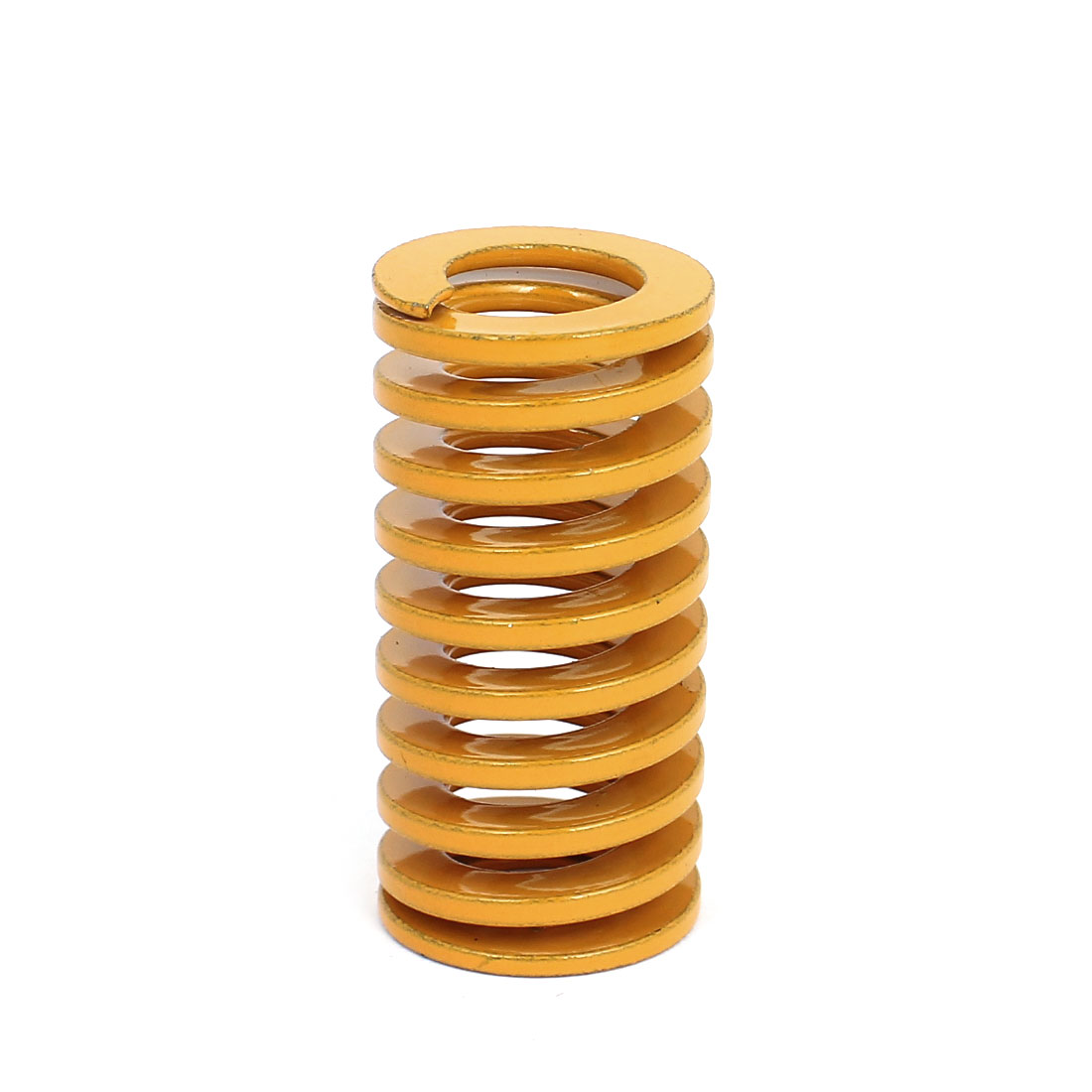 25mm OD 50mm Long Light Load Coil Stamping Compression Mold Die Spring Yellow