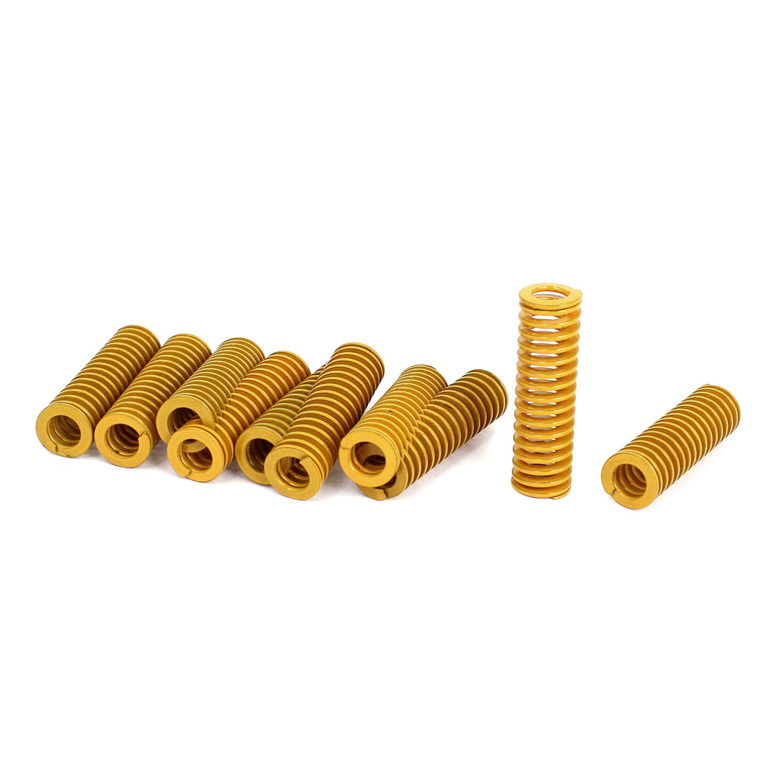12mm OD 40mm Long Light Load Stamping Compression Mold Die Spring Yellow 10pcs
