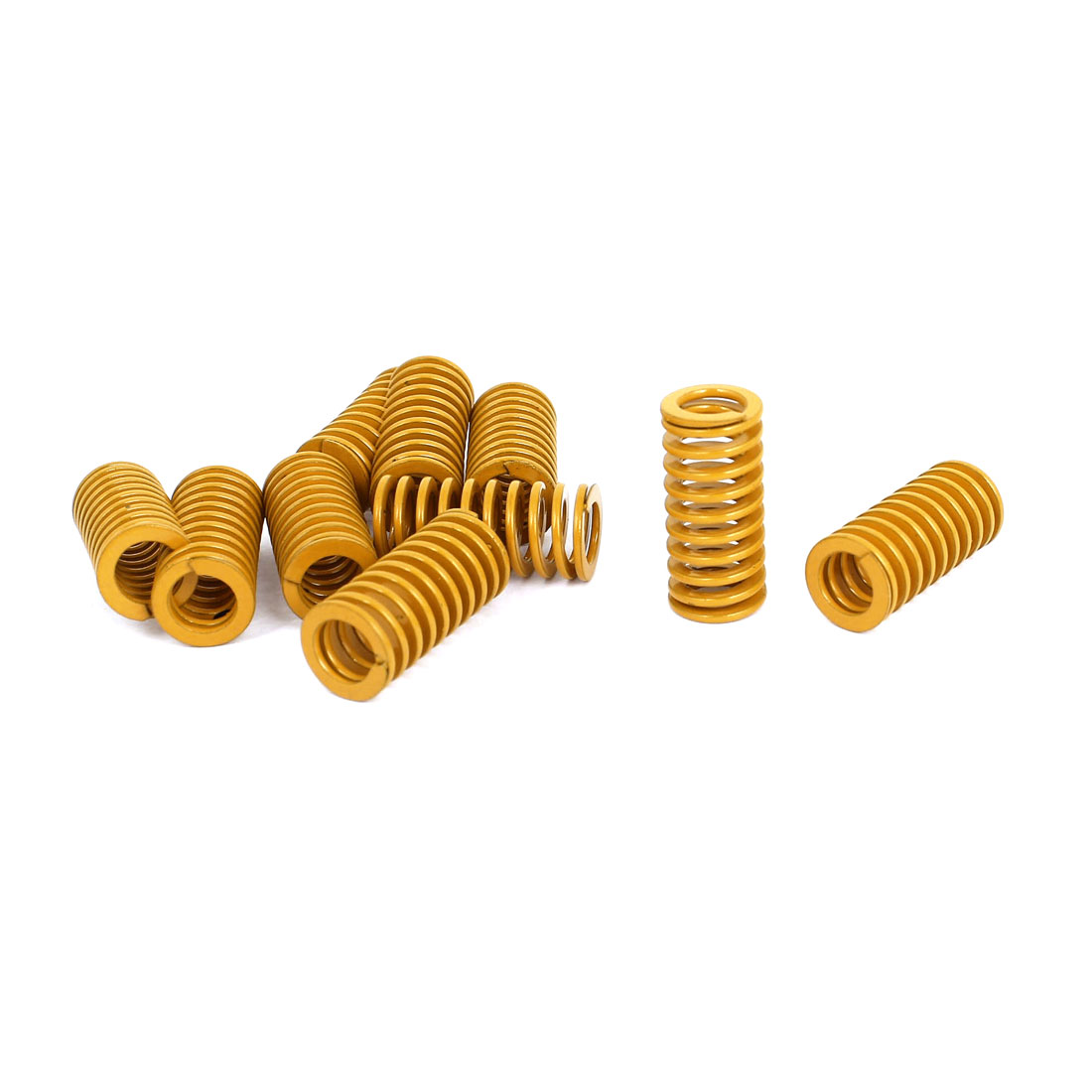 14mm OD 30mm Long Light Load Stamping Compression Mold Die Spring Yellow 10pcs