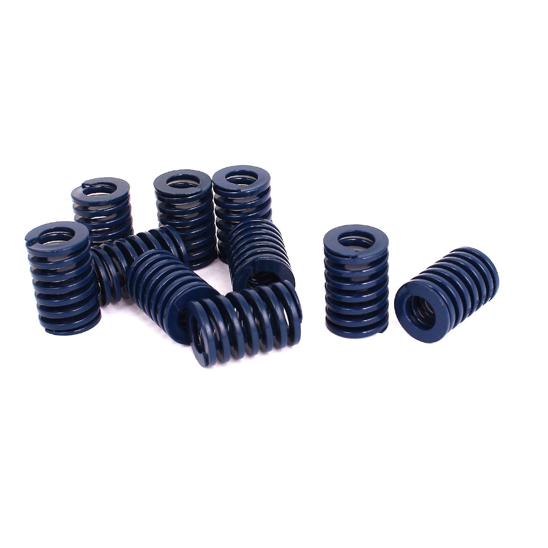 20mm OD 30mm Long Light Load Stamping Compression Mold Die Spring Blue 10pcs