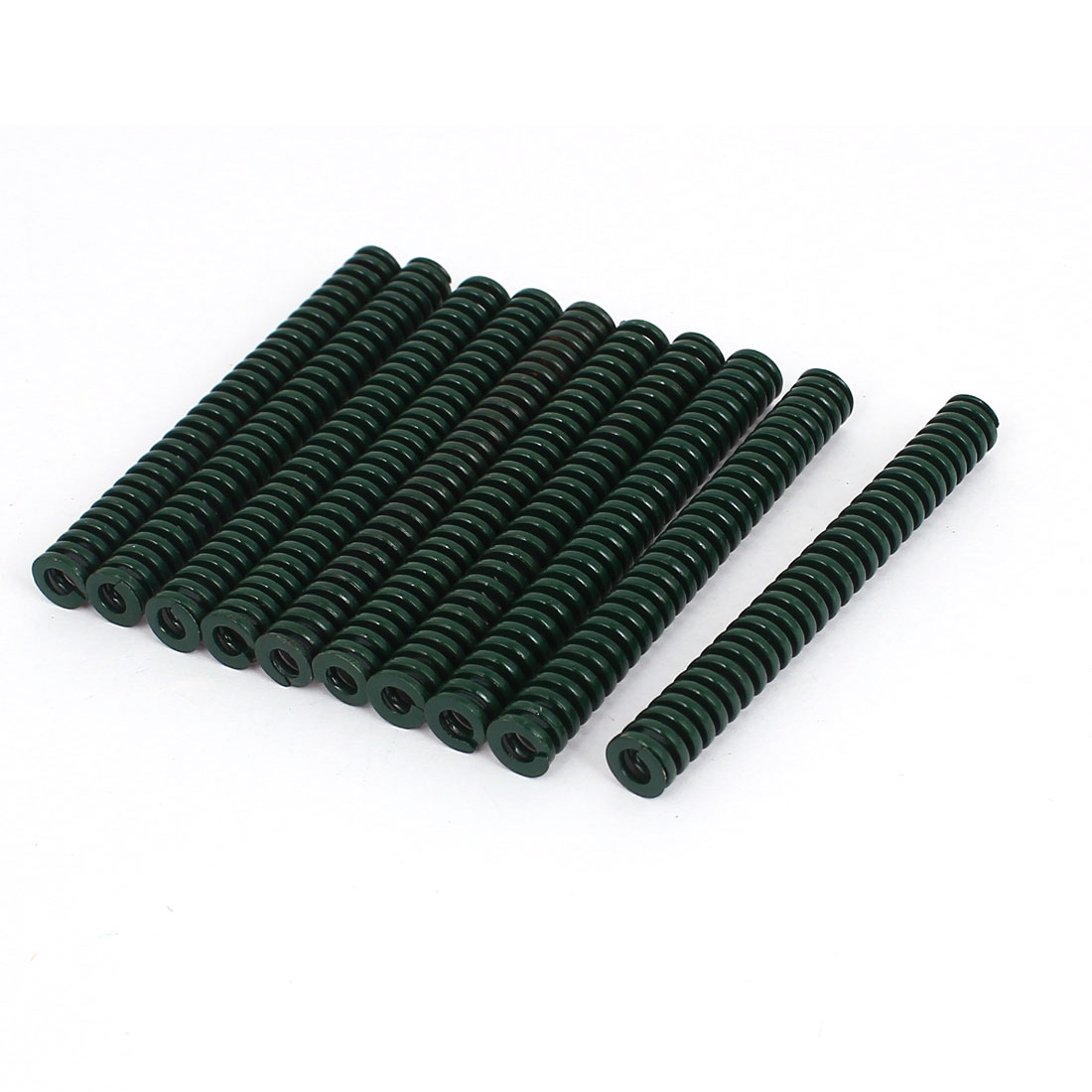 8mm OD 70mm Long Heavy Load Stamping Compression Mould Die Spring Green 10pcs