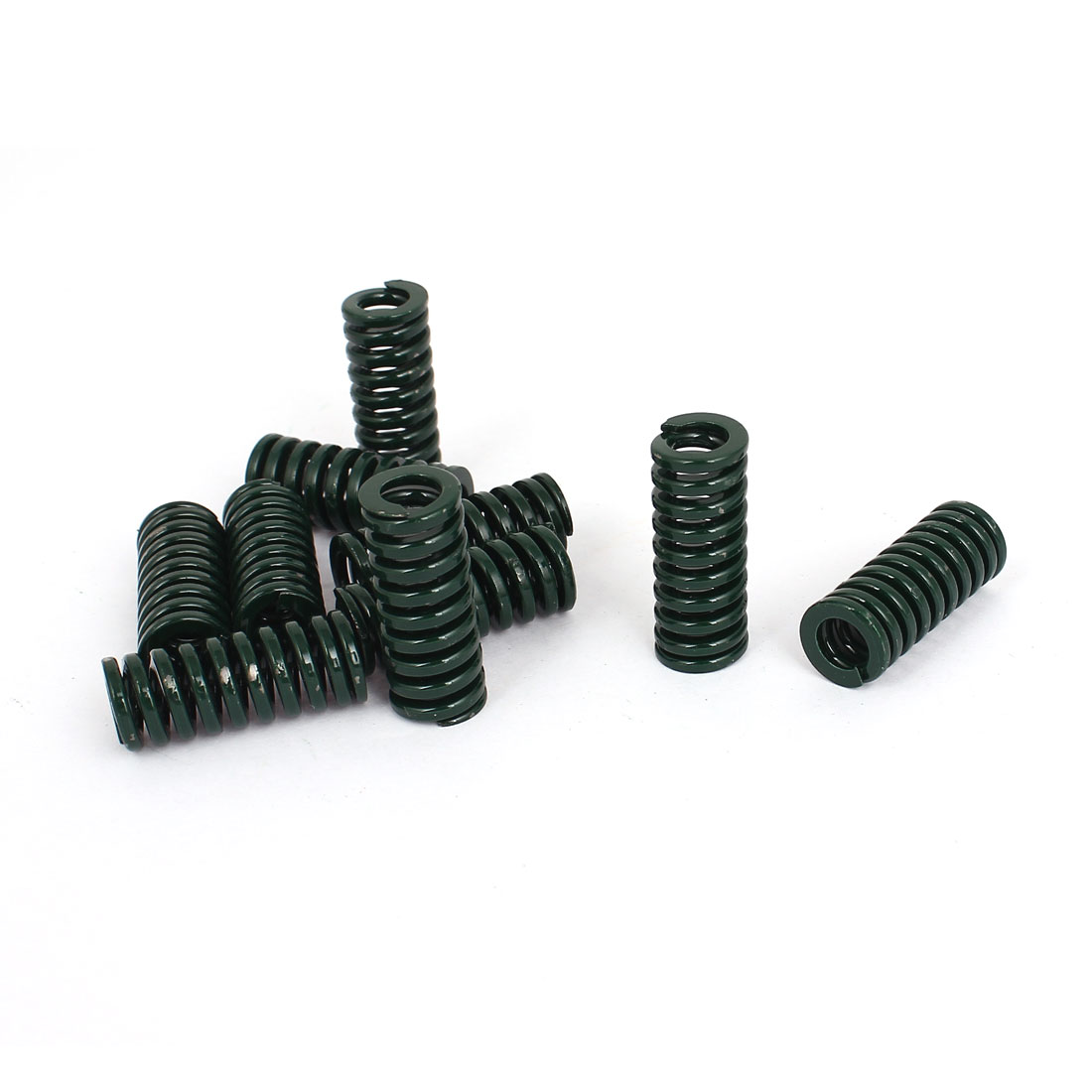 12mm OD 30mm Long Heavy Load Stamping Compression Mold Die Spring Green 10pcs
