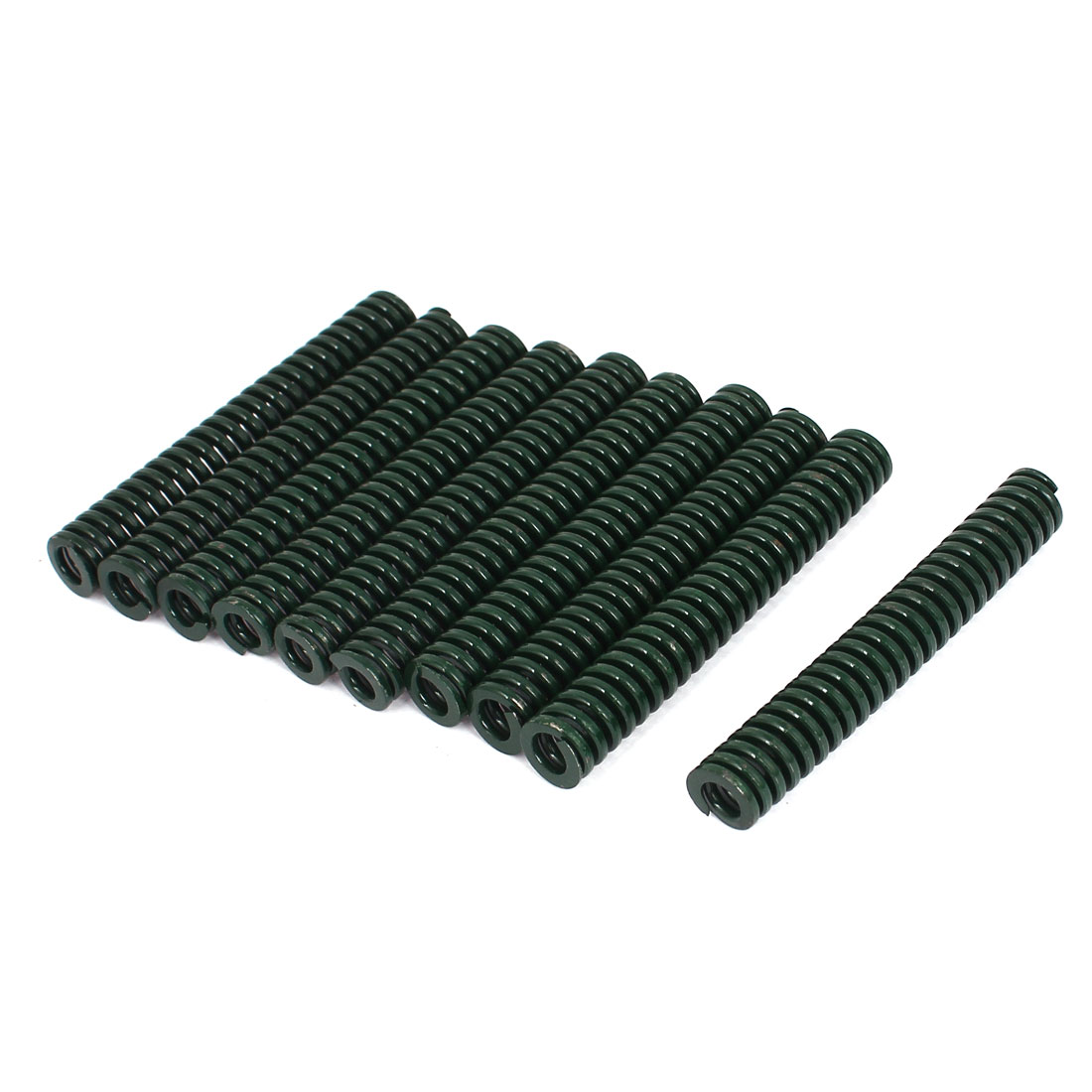12mm OD 80mm Long Heavy Load Stamping Compression Mold Die Spring Green 10pcs