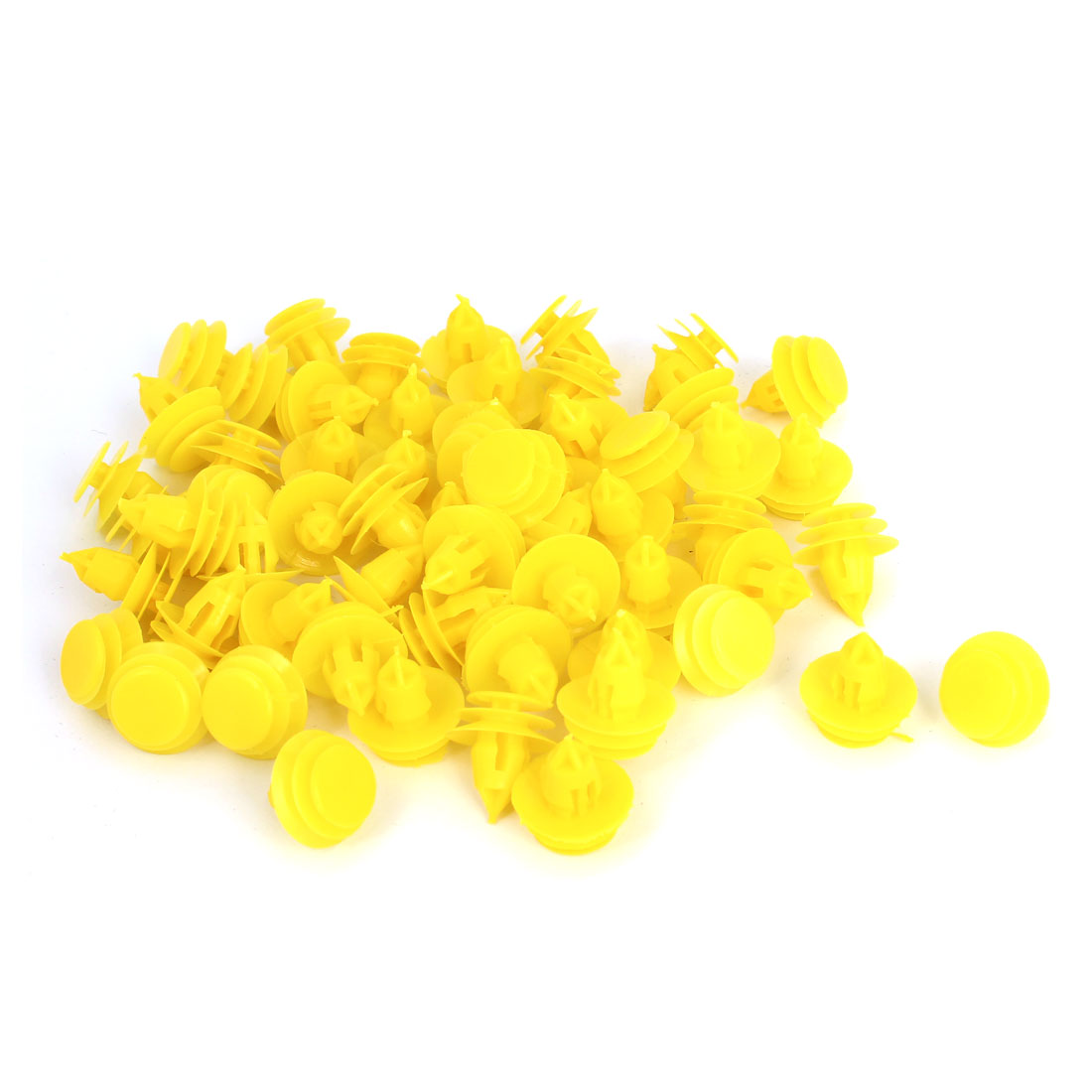100 Pcs Yellow Plastic Door Rivets Car Bumper Fender Retainer Clips 9mm Hole