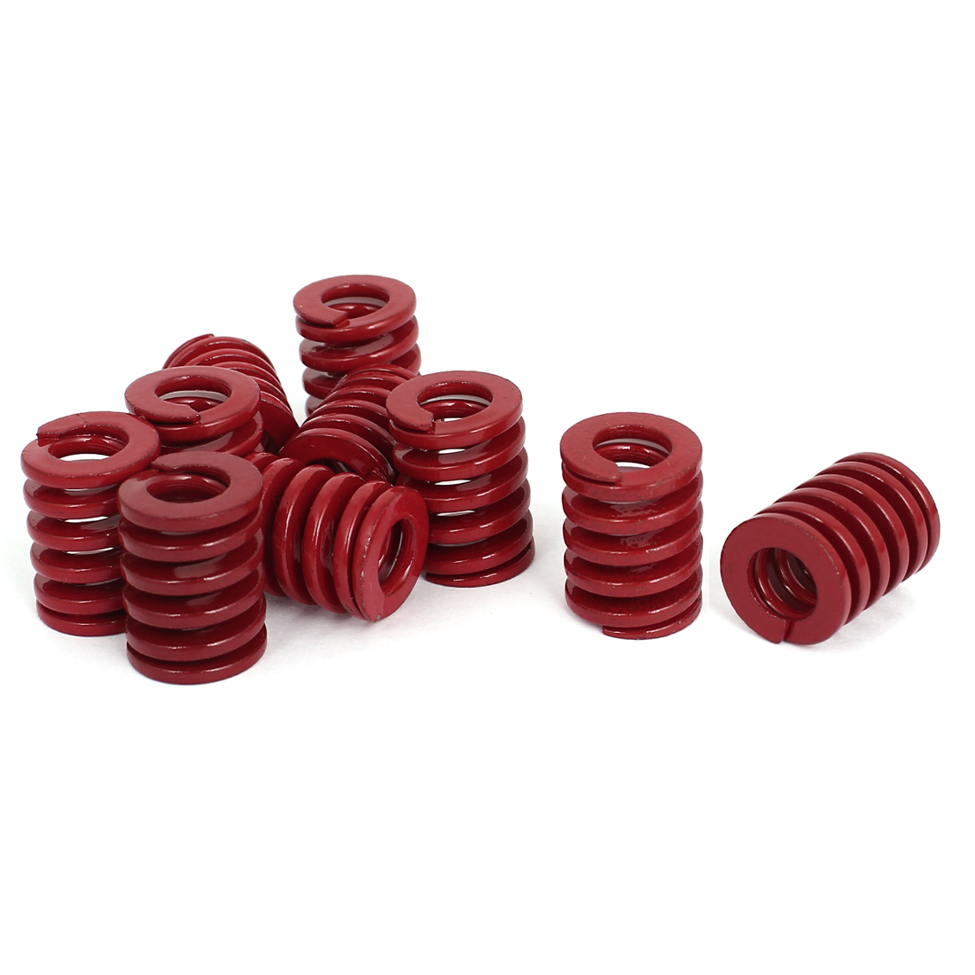 16mm OD 20mm Long Medium Load Stamping Compression Mold Die Spring Red 10pcs