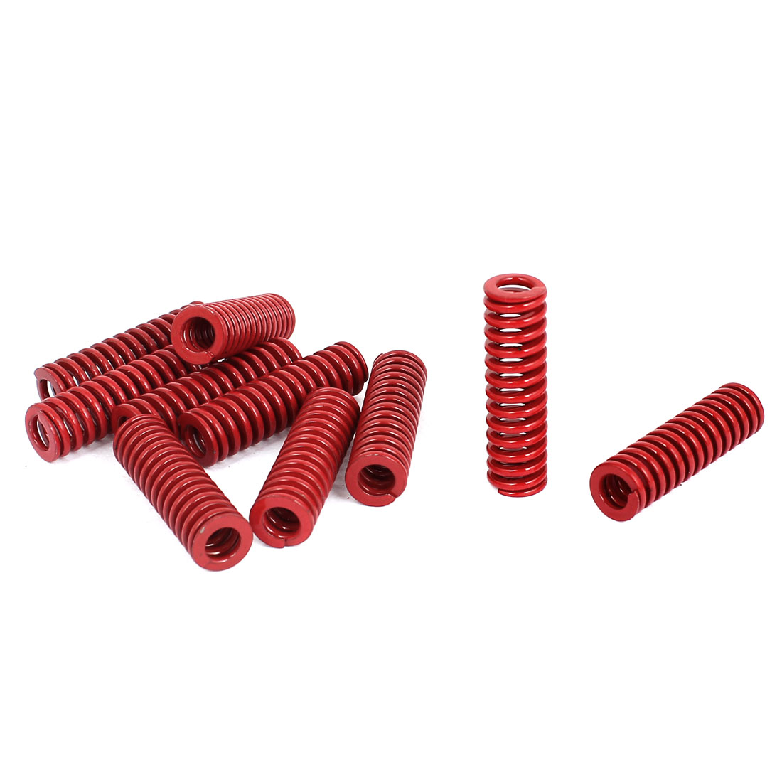 12mm OD 40mm Long Medium Load Stamping Compression Mold Die Spring Red 10pcs