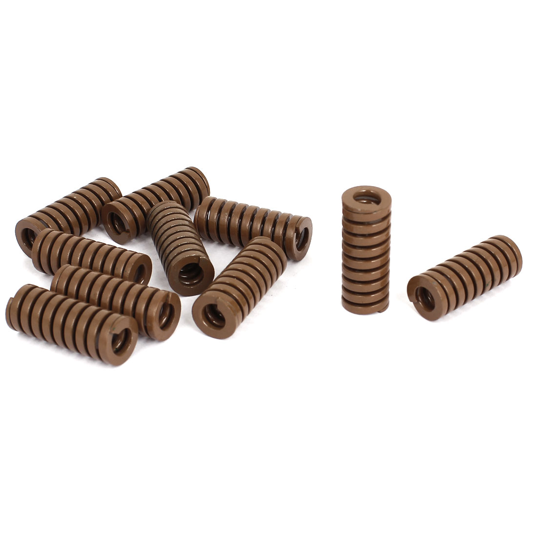16mm OD 40mm Long Heavy Load Stamping Compression Mold Die Spring Brown 10pcs
