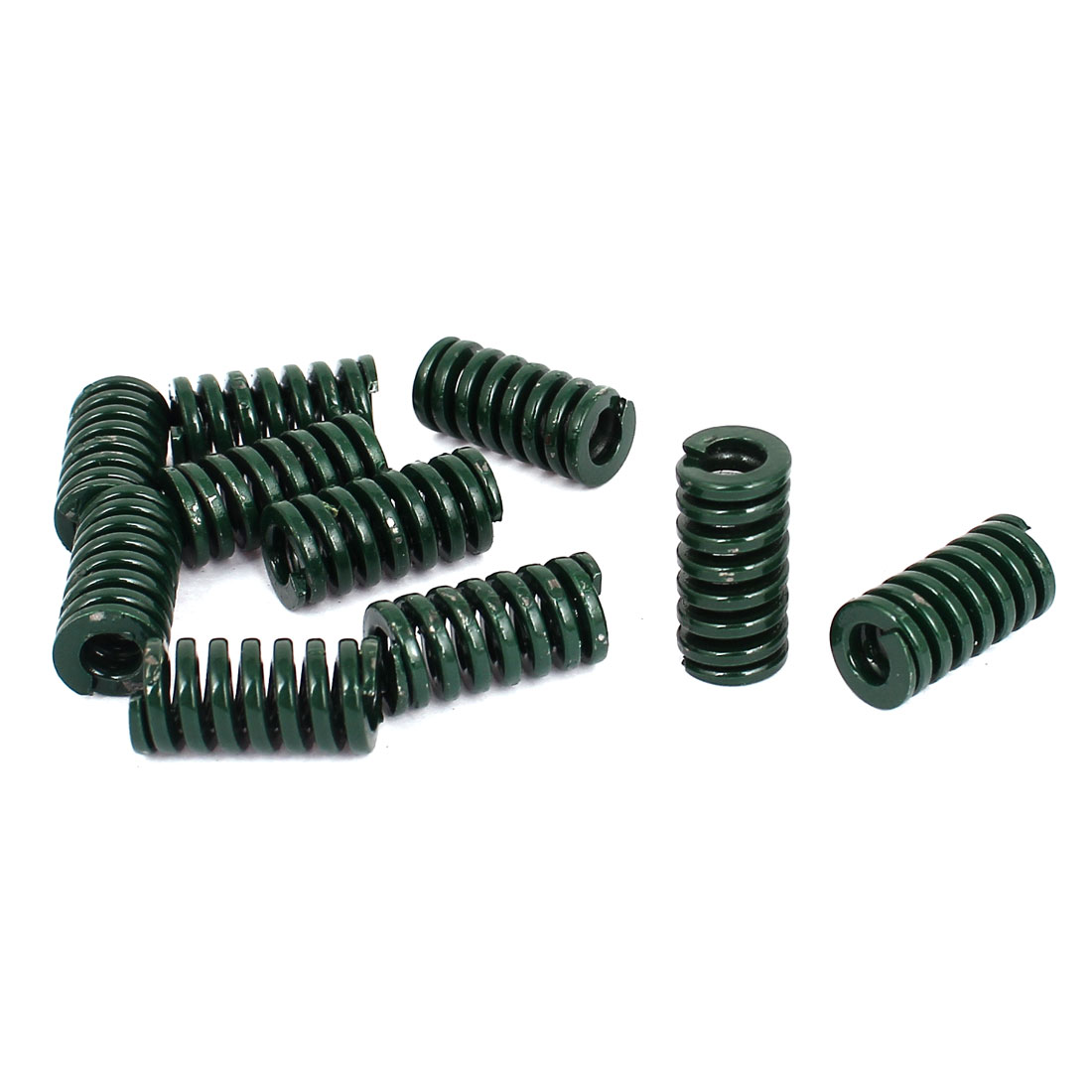 10mm OD 20mm Long Heavy Load Stamping Compression Mold Die Spring Green 10pcs