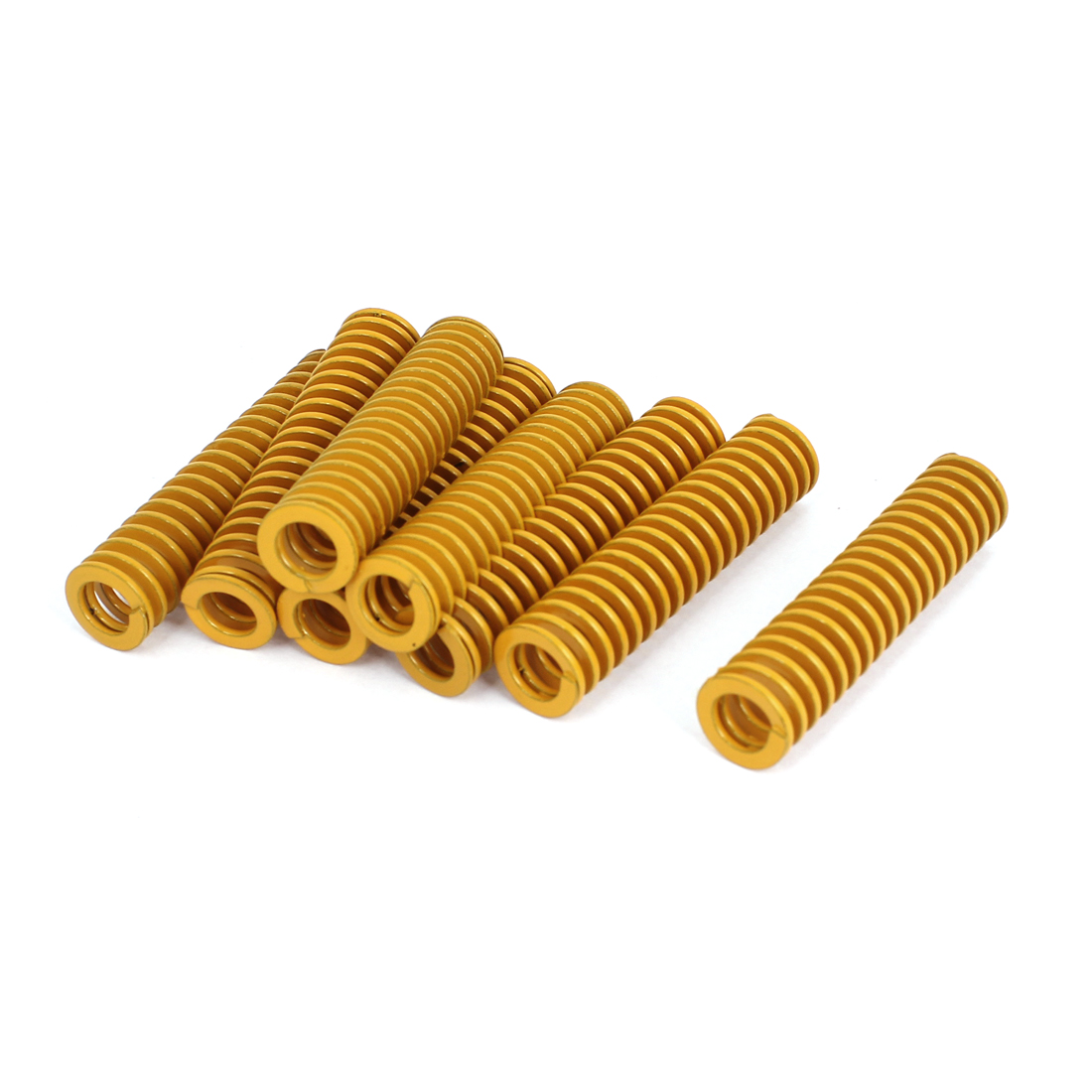 16mm OD 70mm Long Light Load Stamping Compression Mold Die Spring Yellow 8pcs